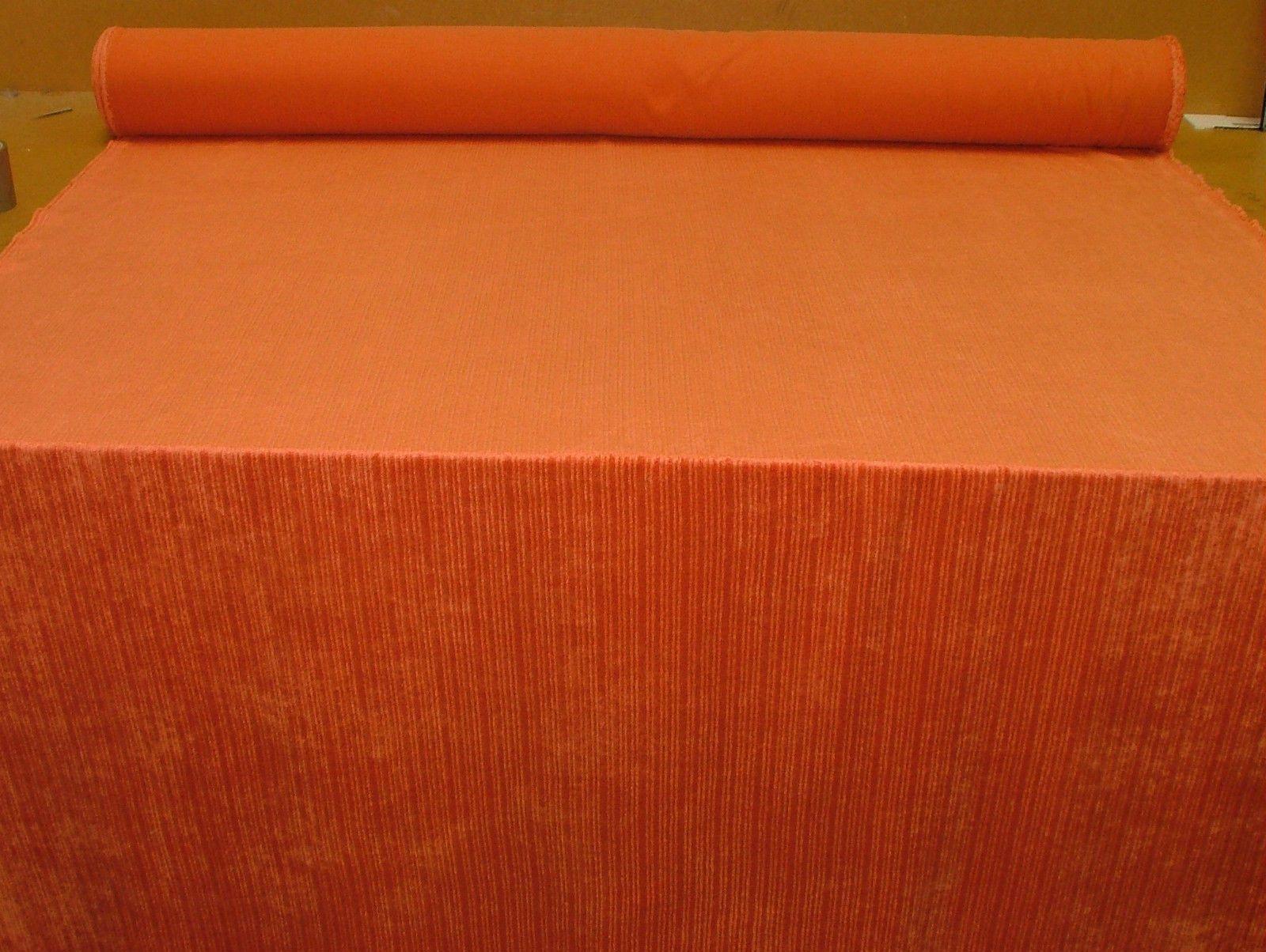 Burnt Orange Soft Pile Designer Velvet Curtain Upholstery